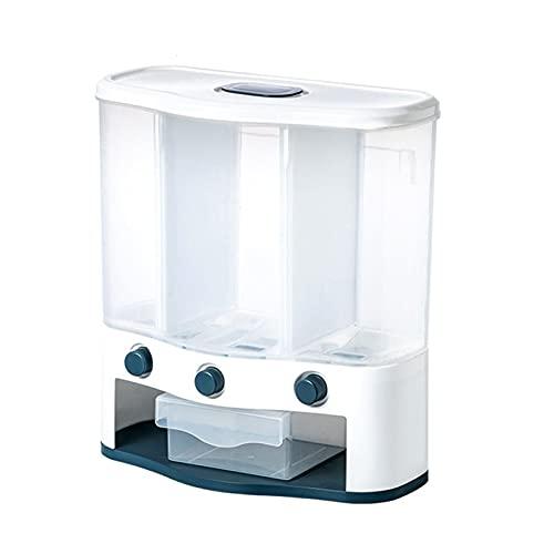 Dispensador de comida de cocina Cocina sellada Cubo de arroz Almacenamiento Almacenamiento Plastic Contenedor Cereal Dispensador Estante de pared Grain Almacenamiento Caja de almacenamiento Avena Hoga