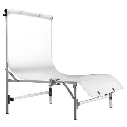 Walimex Pro Tavola - Mesa de fotografía para fotografía de Producto (Altura de Disparo de 28 cm), Blanco y Plateado