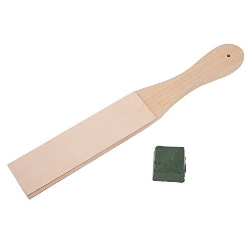 Paski do ostrzenia skóry, dwustronna drewniana deska szlifierska z pastą ścierną do polowania na noże wędkarskie, noże kuchenne