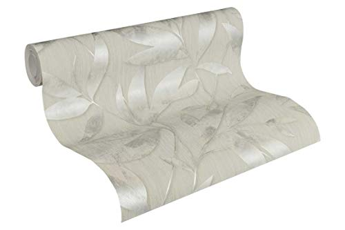 A.S. Création Vliestapete Siena Tapete floral 10,05 m x 0,53 m grau metallic Made in Germany 328803 32880-3