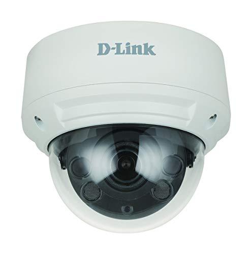 D-Link DCS-4618EK Cámara IP Domo Exteriores Vigilancia 8 Megapíxeles H.265 con 4K Ultra HD, Visión Nocturna 30m, H.265, WDR, LowLight+, Varifocal Motorizada, PoE, IP66, IK10, Ranura Micro SD, ONVIF