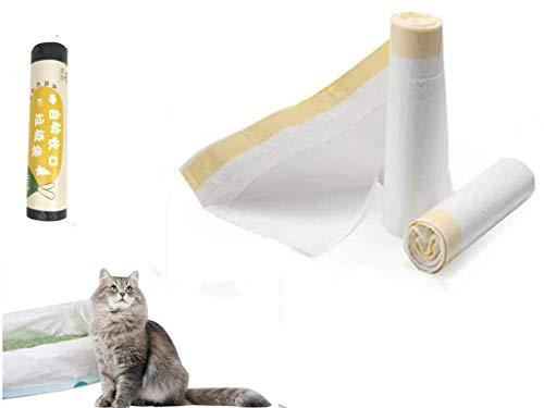 2 emballages de sacs Manfa (14 sacs) pour bac à litière pour chat, 8 sacs à poubelle (large) en cadeau.