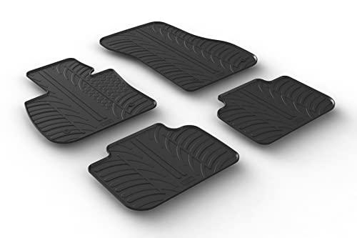 Gledring Set tapis de caoutchouc compatible avec BMW X1 F48 2015- (T profil 4-pièces + clips de montage)