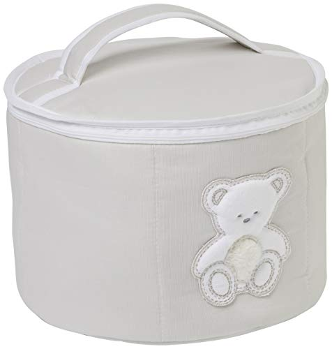 Italbaby Knuffel Ronde Beauty Case, Duif Grijs, Multi-Color, One Size