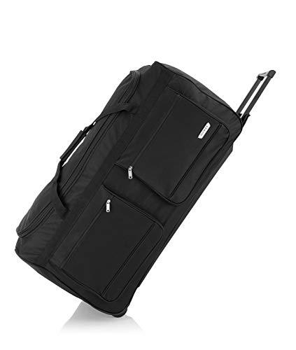 Flymax 32' Large Rolling Lightweight Wheeled Suitcase Travel Duffle Holdall Bag on Wheels Luggage