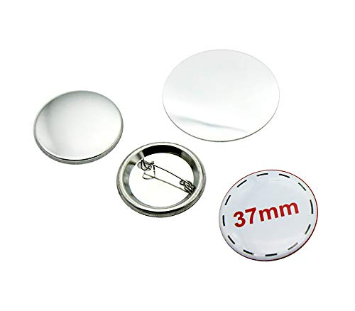 ChiButtons 37mm Metal Pin Badge Round [Metric System] (200 Sets)