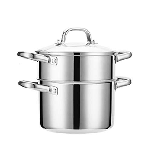 ZLDGYG Acero Inoxidable hogar Espesado Mini pequeño Espesado Gas Pequeño Sopa de Olla al Vapor