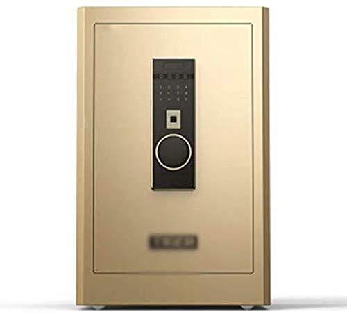 Kluis Elektronische startpagina met vingerafdruk-kantoor Elektronische anti-diefstal-40 * 36 * 60 cm meubelkluis (kleur: goud)