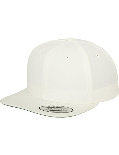Flexfit Classic Snapback Cap, Mütze Unisex Kappe für Damen und Herren, One Size, Farbe natural