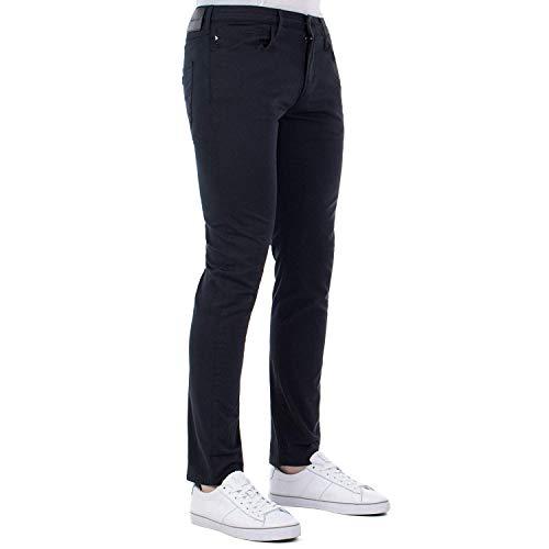 Emporio Armani 8N1J06 1N0LZ Mens 5 Pockets Cotton Trousers (W32/L34) Dark Blue Armani Five Pocket Jeans