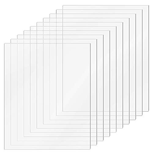 opamoo 10 Stücke Acrylplatte, Acrylglas Plexiglas Transparente Acrylplatte 2 mm Dicke Acrylplatte 150 x 100 x 2mm (6 x 4 Zoll) für das Ersatzglas von Fotorahmen Projektausstellung Malerei