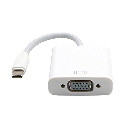 B Blesiya Cable Adaptador USB a VGA/HDMI/DVI/Convertidor, Macho a Hembra - Blanco