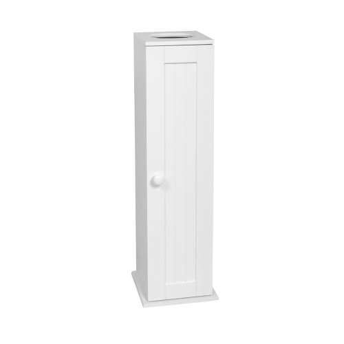 Zenith Home Corp E9153WWMV Country Cottage Toilet Tissue Cabinet, -