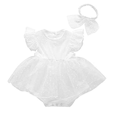 Newborn Baby Girls Satin Christening Baptism Floral Embroidered Dress Gown Summer Outfit