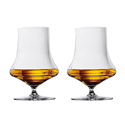Copas de vino Vaso De Whisky Taza De Aroma Patas Cortas para Uso Doméstico Copa De Vino De Cristal Copa De Vino De Cristal (Color : Transparent, Size : 340mL*2)