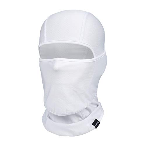 Balaclava Summer Protection Face Mask Men Breathable Dust Sports Outdoor Cycling Running (White-B, 1)