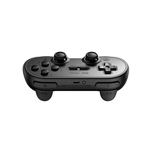 8Bitdo Sn30 Pro+ Wireless Bluetooth Gamepad For Nintendo Switchwindowsmacosandroidraspberry Pi (Black Edition) & TP-Link UB400 Nano USB Bluetooth 4.0 Adapter Dongle