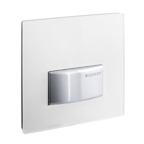 241.956.11.5 Sigma50 Actuador de urinario con placa de exposición, color blanco alpino