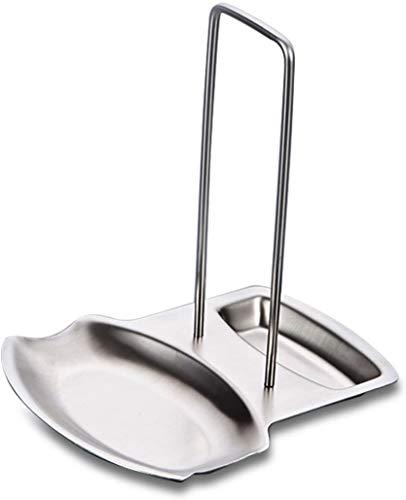 Soporte para tapa de sartén y soporte para cuchara de acero