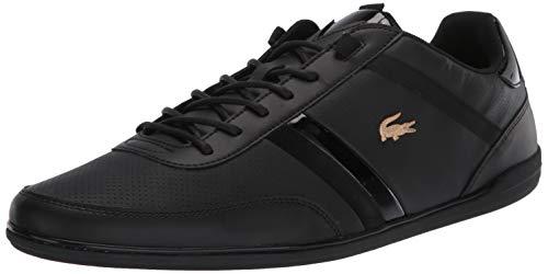 Lacoste Men's Giron Sneaker, Black/Gold, 13 Medium US