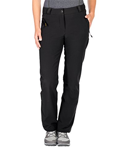 Jack Wolfskin Damen Activate THERMIC Pants Women Softshell-Hose, Black, 38