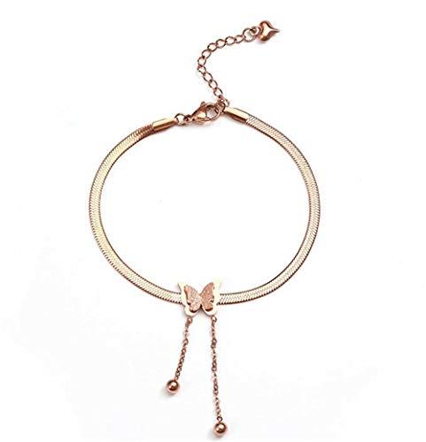 Collar Colgante Joyería Collar para Mujer, Oro Rosa, Acero Inoxidable 316L, Collares Colgantes, Cadena De Ondas De Agua, Metal, Moda para Mujer, Clásico Geométrico