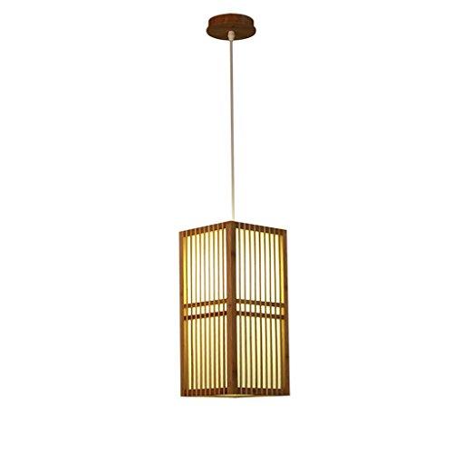 LJF Lampe . Lámpara de araña, madera maciza, candelabro, creativa, restaurante Tea Room, candelabro de madera (18 cm x 37 cm), luz neutra