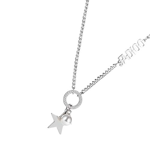 Holibanna Star Necklace Silver Bohe Star Pendant Necklace Chain Jewelry Gift for Women