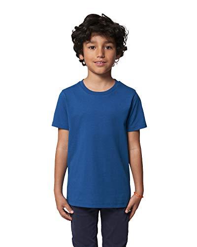 Hilltop Maglia da Bambini, Maglietta 100% Cotone Organico, Alta Qualità, Stampabile con Foil/Pellicole di Trasferimento Tessuti, Size:152/164, Color:Majorelle Blue