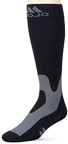 Mojo Compression Socks 3XL - 20-30mmHg Wide Full Calf - Varicose Vein Edema - Plus Size Sports Compression Stockings Black XXX-Large A601BL6