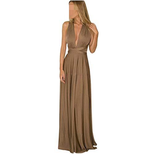 Women Sexy Sleeveless Halter Bandage Party Evening Dress Elegant Dresses