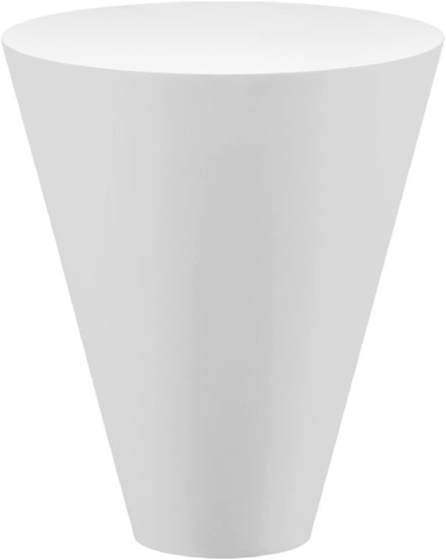 Casa Padrino Mesa de jardín de Lujo Blanco Mate Ø 51 x A. 60 cm - Mesa Auxiliar Redonda Resistente a la Intemperie - Muebles Mesa de Jardín de Terraza - Colección de Lujo