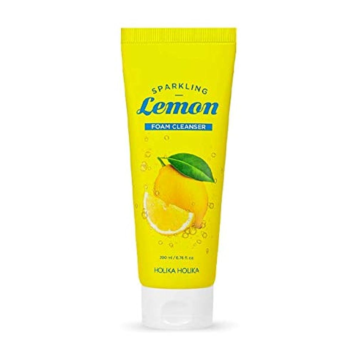 本物木快適ホリカホリカ 炭酸レモンフォームクレンザー?洗顔フォーム/HOLIKA Sparkling Lemon Foam Cleanser 200ml 韓国コスメ [並行輸入品]