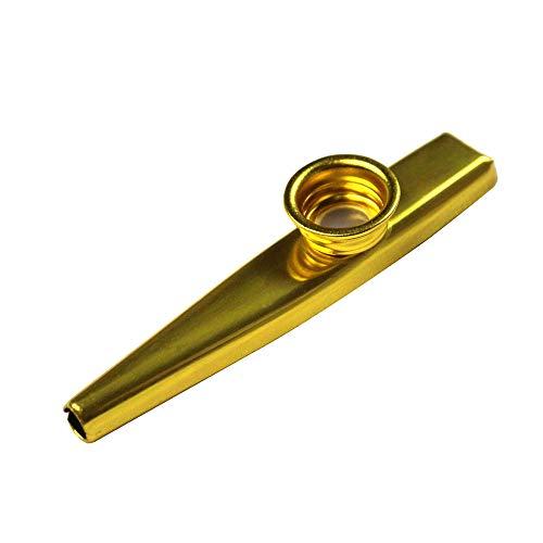 Goldenes Kazoo Instrument Aluminiumlegierung Cazoo Einzelpackung mit 3 Membranen für Party-Instrumentalbegleitung