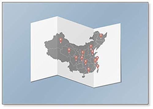 De kaart Van China En De Locatie Tags Van De Belangrijkste Steden Koelkast Magneet