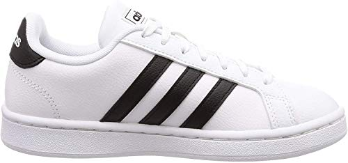 Adidas Grand Court, Damen Hallenschuhe, Weiß (Ftwbla/Negbás/Ftwbla 000), 40 EU (6.5 UK)