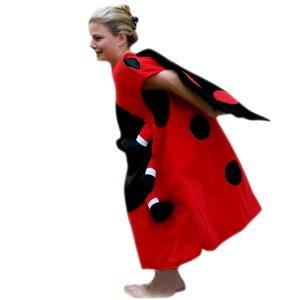 Marienkäfer-Kostüm, SU25 Einheits-Größe für alle Männer und Frauen, Marien-Käfer Kostüme als Faschings- Karnevals- Fasnachts-Geschenk, Gruppen-Kostüme für Erwachsene, Rot/Schwarz, L-XL