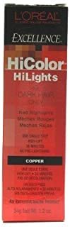 L'Oreal Excellence Hicolor Hilights Copper 1.2 ounce (3-Pack) with Nail File