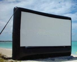 Baoshishan 9 × 7 m große, aufblasbare Film-Leinwand, tragbar, für draußen, Kino