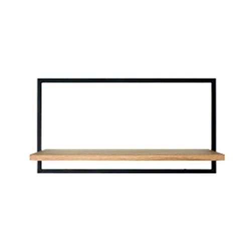 LM Nordic Fashion eenvoudige wandgemonteerde stalen en houten rekken, multifunctionele wanddecoratie, een scheidingswand, woonkamer slaapkamer studie, boekenplank opslag rack displaystandaard, multi-Size