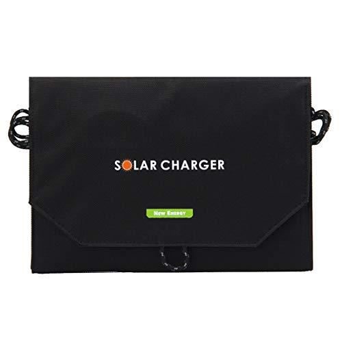 Luoshan 14W 2.8A MAX 2 Puertos de Salida Bolsa de Cargador de Panel Solar Plegable portátil for Samsung/HTC/Nokia/Teléfonos móviles/Otros Dispositivos