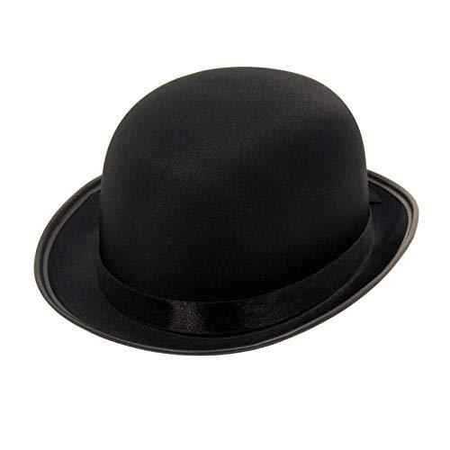 Party Pro 8438038 Chapeau shérif Luxe Noir Melon Tissu Luxe