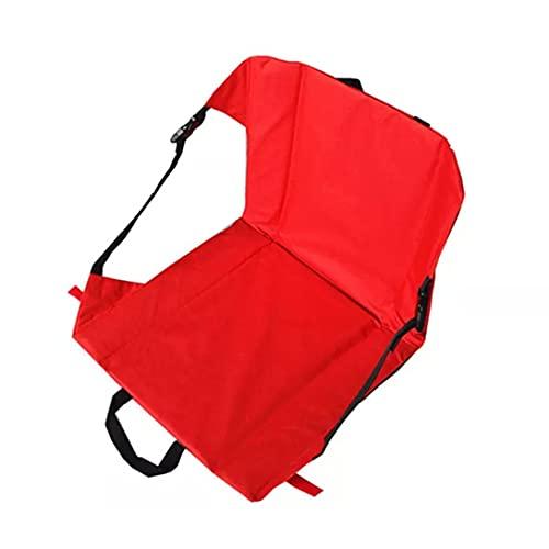 バッククッションメッシュバッグ付きポータブル屋外公園折りたたみ椅子ビーチ水分折りたたみ折りたたみクッションレジャーバーベキュー