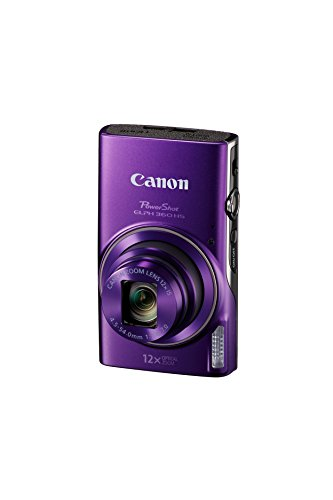 Canon PowerShot ELPH 360 Digital Camera w/ 12x Optical Zoom and Image Stabilization - Wi-Fi & NFC Enabled (Purple)