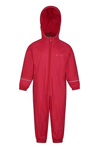 Mountain Warehouse Tuta Antipioggia Bambino Spright Rosso 24-36 Mesi
