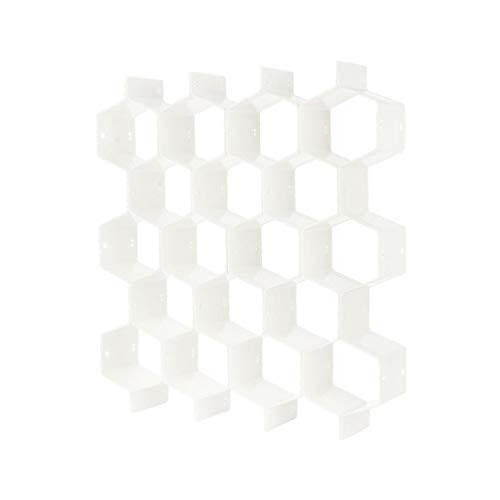YUSHU Organizador de cajones con forma de panal, 8 divisores de armario,...