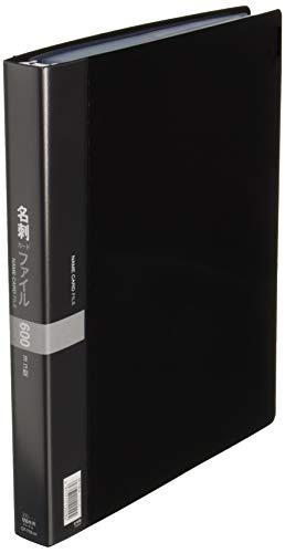 コレクト 名刺入れ 名刺カードファイル ブラック A4-L CF-716-BK