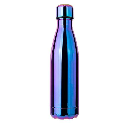 ZZTT Koks Flasche isolierflasche Mode Outdoor Sports büro wasserkocher Geschenk Tasse Trinken Flasche doppel Edelstahl kalte wärme 500 ml,Electroplatedpurple
