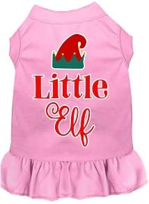 Mirage Pet Don't miss the campaign Product Little Elf Screen Dog Print Light Pink mart Dress