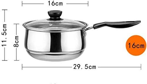 Jooyouo-TH Auflaufformen Edelstahltopf Doppelboden Suppentopf Nichtmagnetisches Kochen Mehrzweckkochgeschirr Antihaftpfanne Induktionsherd Gebrauchter Topf 20Cm-16Cm